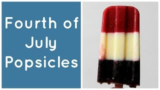 All Natural Red, White, And Blue Popsicles
