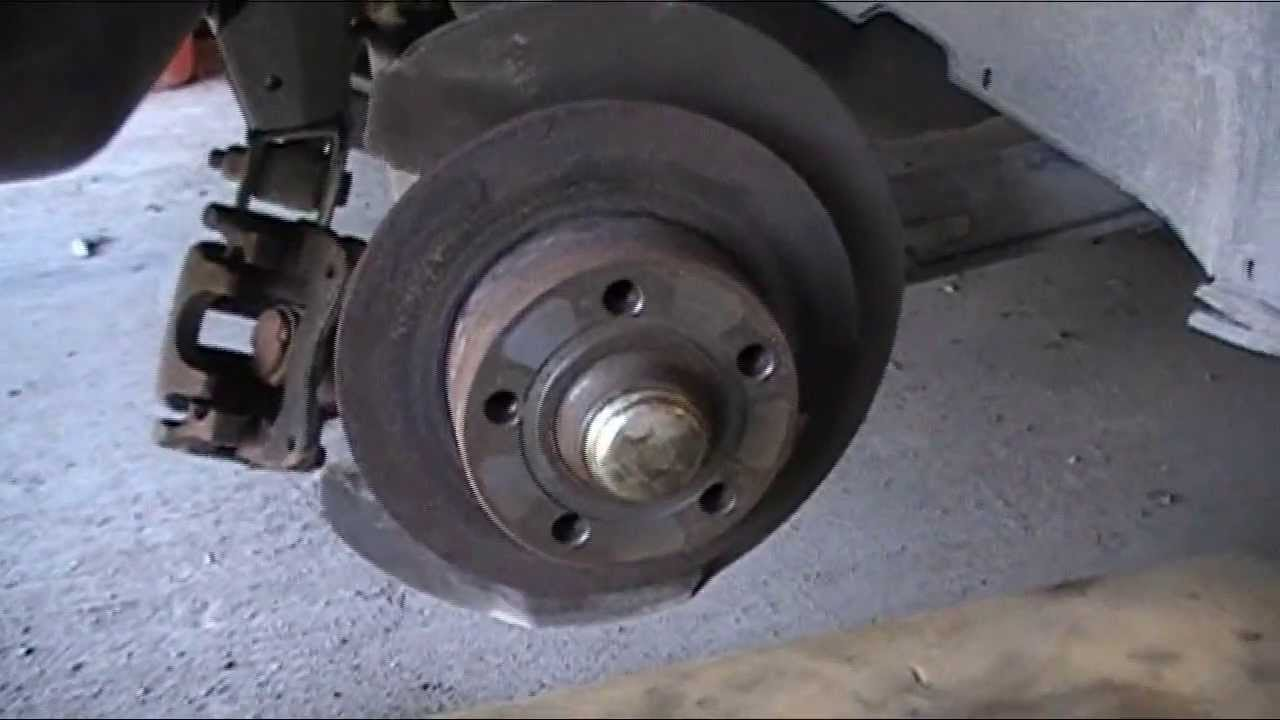 rear brake caliper replacement audi a6 youtube. Black Bedroom Furniture Sets. Home Design Ideas