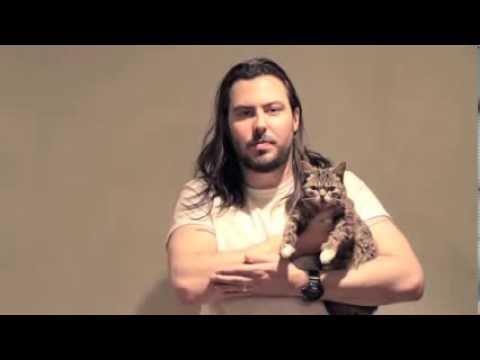 Andrew W.K. Cradling A Cat - Precious Lil BUB!