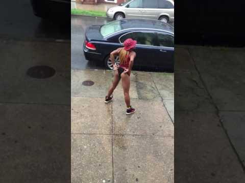 Thot twerking in the rain