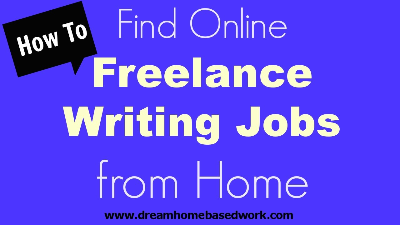 how to online lance writing jobs from home