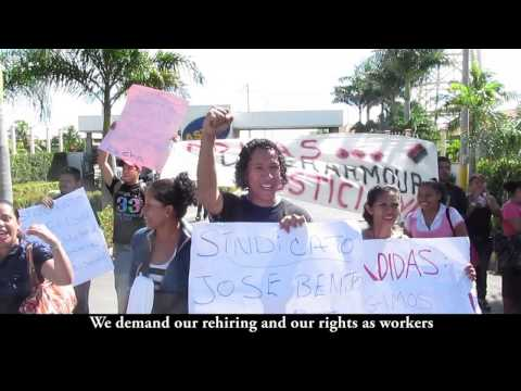 Adidas workers illegally fired for standing up to sweatshop conditions at Flying Needle, Nicaragua