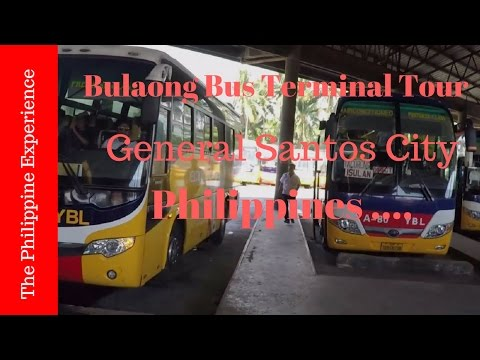 Philippines, General Santos City Bulaong Bus Terminal Tour