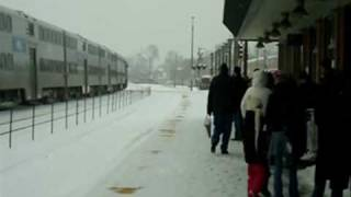 Metra train #505 at Elmhurst