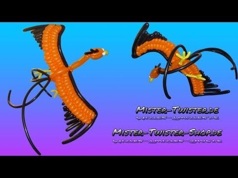 Balloon Phönix Firebird Paradis bird, Ballon Feuervogel Paradisvogel Vogel, Ballonfiguren