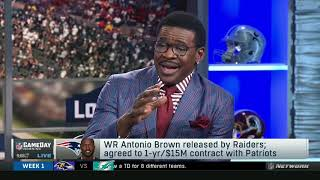 NFL GameDay on Antonio Brown released by Raiders; agreed with Patriots