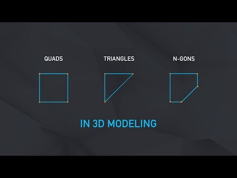 Quads, Triangles And N-Gons In 3D Modeling