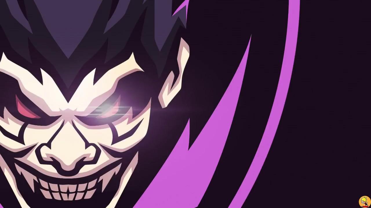 Joker mascot logo speedart