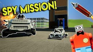LEGO SECRET SPY MISSION & DESTRUCTION! - Brick Rigs Gameplay Challenge & Creations