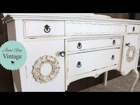 How To Dark Glaze Furniture | Antique Buffet