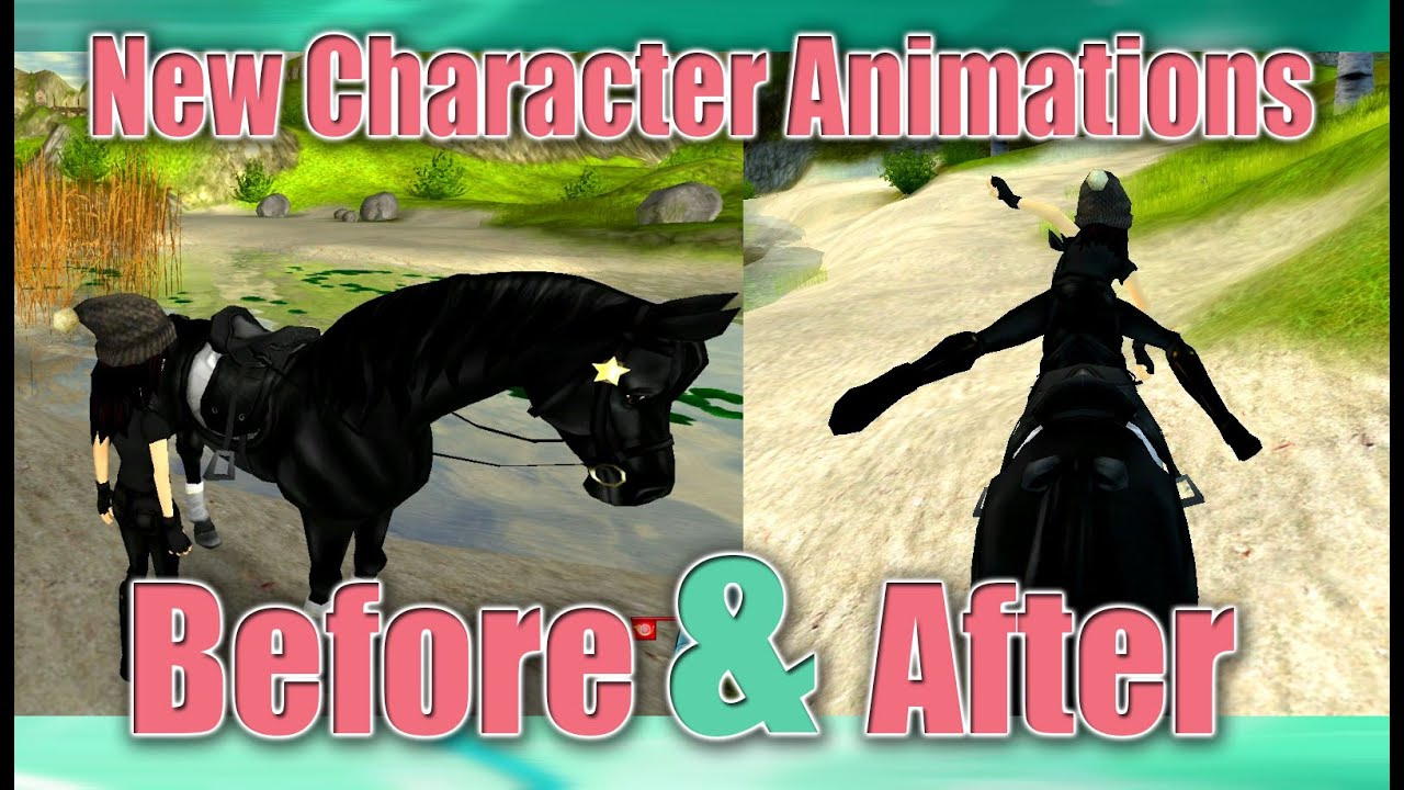 BEFORE AFTER New Character Animations Star Stable YouTube - Before and after achorse stable