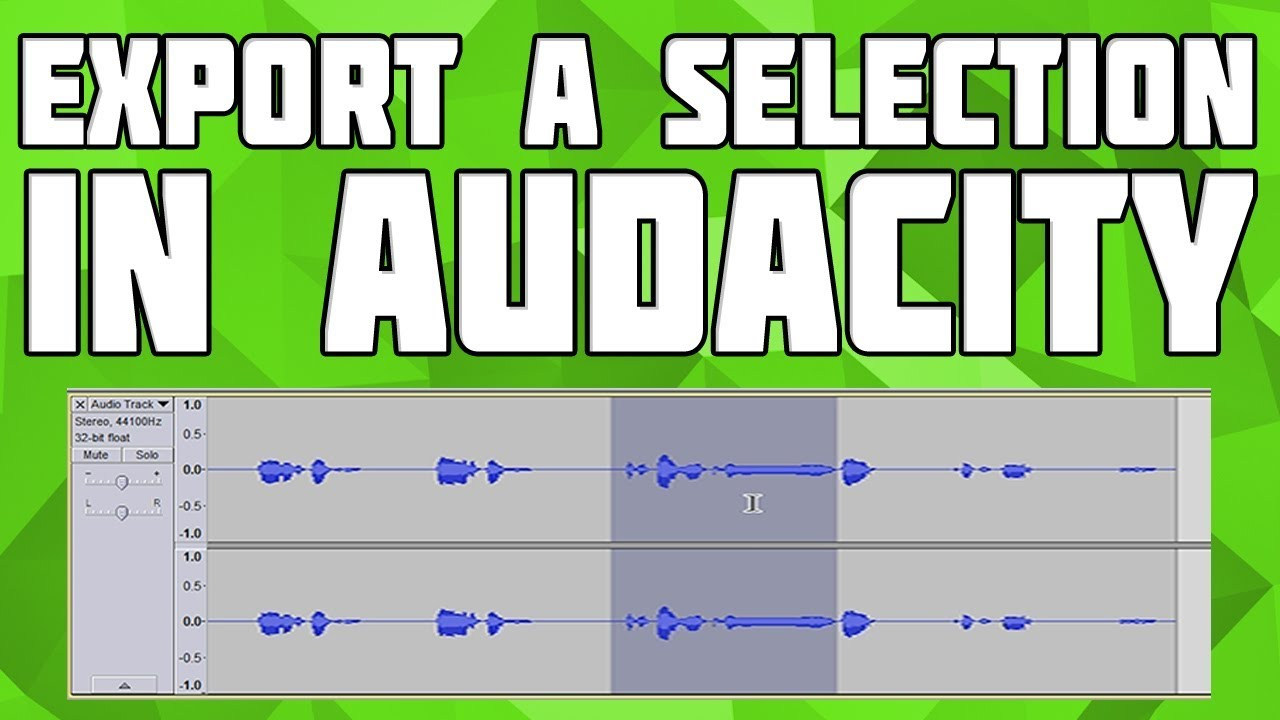 How to Export a Selection in Audacity! How to Export highlighted part in  audacity!