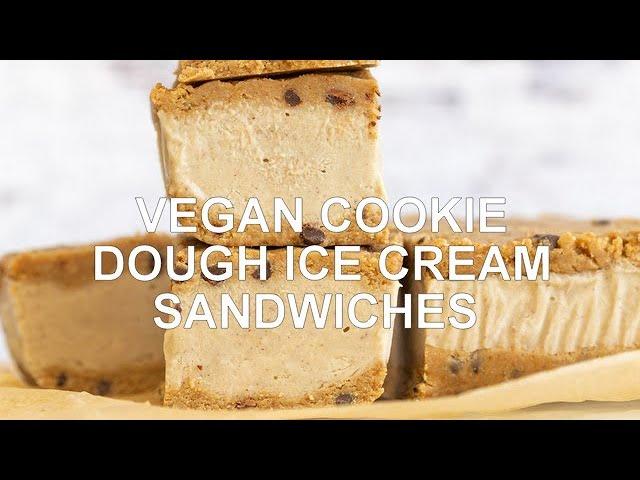 COOKIE DOUGH ICE CREAM SANDWICHES Vegan GF, No Baking, No Machine! | Vegan Richa Recipes