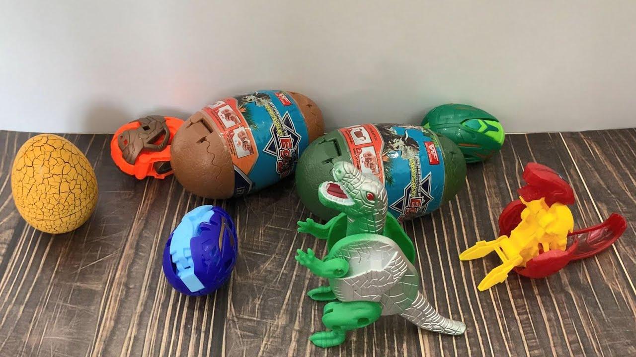 Bộ sưu tập khủng long: Tròn mắt với cách mở trứng khủng long siêu ngầu
