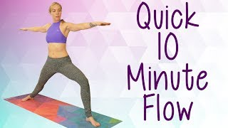 Quick Beginners Yoga Workout with Lindsey | Leg & Glute Workout, Hip Flexibility