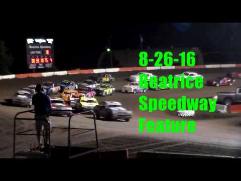 8-26-16 Beatrice Speedway Caleb Davis A Feature #22