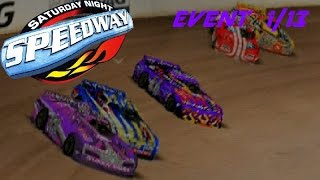 Saturday Night Speedway - Late Model - 1/13 | Purple Dumbass