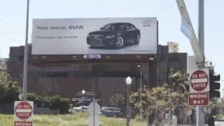 Audi Vs BMW billboard wars