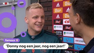 Donny van de Beek wordt gek van vragen over vertrek bij Ajax
