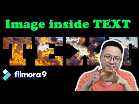 How to Place an Image Inside Text Using Filmora9