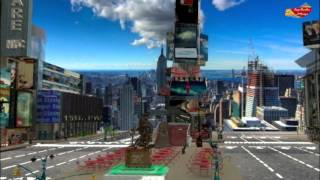 Times Square NYC - Tiago Bacelar - 3DS Max Class - Sinapse - SAGA Recife
