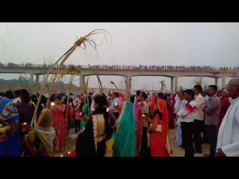 Jharkhand chhath puja celebration in Koyal River - Rehla (palamu) Jharkhand