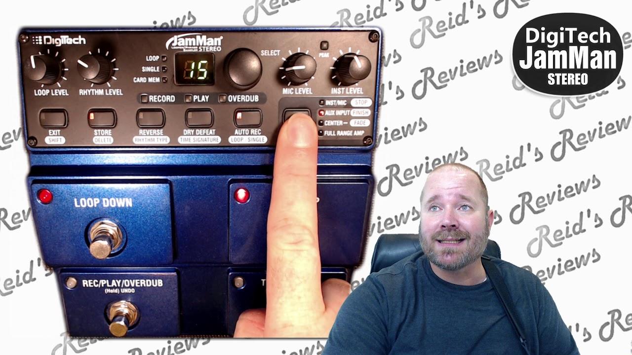 overwhelmed explanation digitech jamman looper stereo overview guitar effects pedal reid 39 s. Black Bedroom Furniture Sets. Home Design Ideas