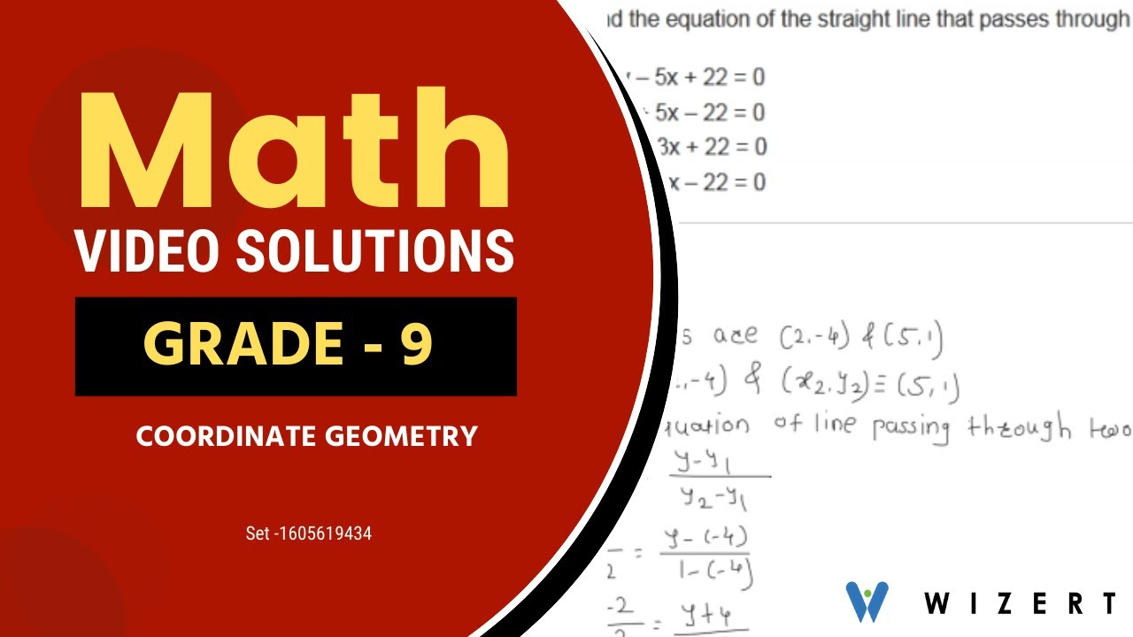 medium resolution of Math Tests for Grade 9 - Grade 9 Maths Coordinate Geometry worksheets - Set  1605619434 - YouTube