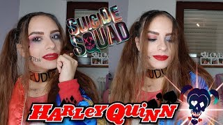 SUICIDE SQUAD Harley Quinn Halloween Makeup Tutorial 👻 | Maisa Beauty