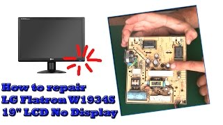 How to repair LG Flatron W1934S 19'' LCD No Display. Лёгкий ремонт монитора LG Flatron W1934S.