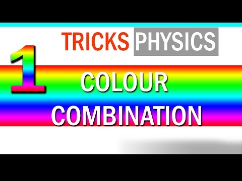 Primary Colors of Light - Mixing - TRICK - PART 1- PHYSICS- REVISION
