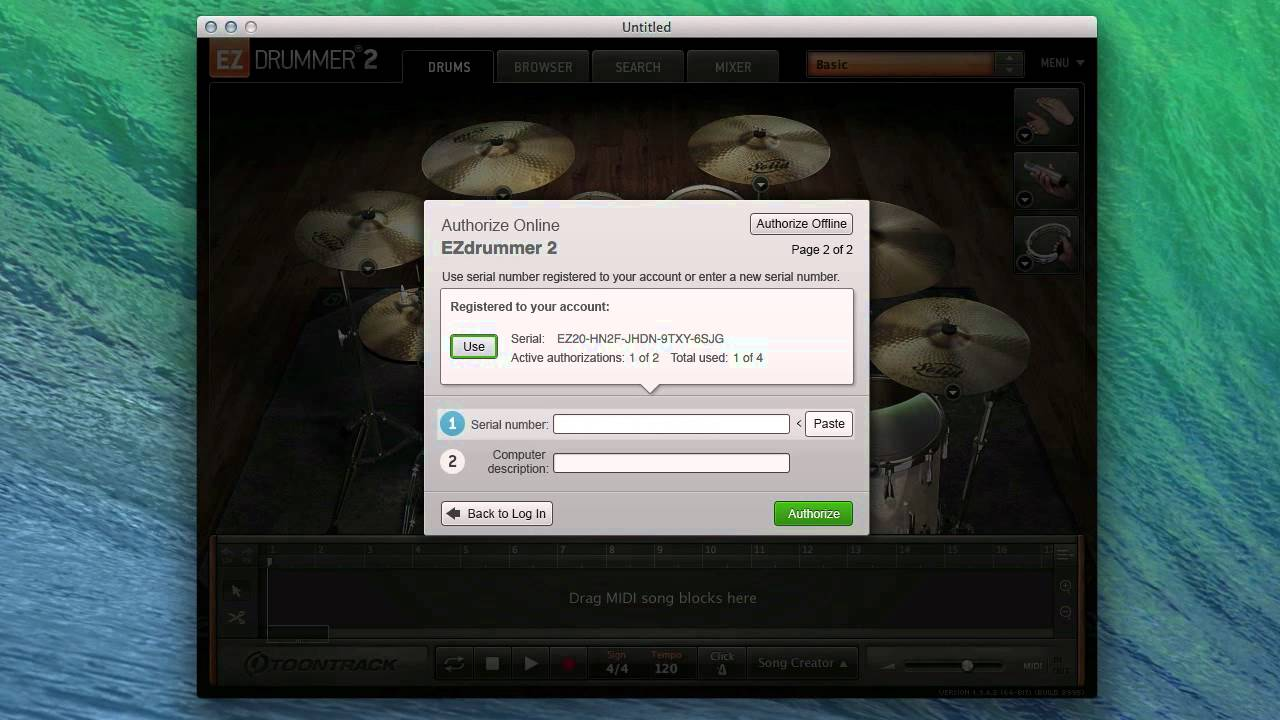EZdrummer 2 - How to authorize