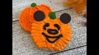 DIY Mickey Mouse Disney Pumpkin Cookies  1 minute video