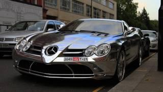Chrome SLR Mclaren Brabus & Aston Martin DBS exhaust sound in London