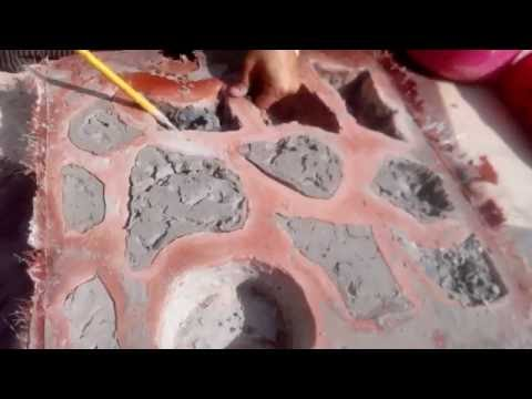 DIY FIBRE / RESIN EPOXY MOLD ART FINISHING FLOOR PAVING TILES MOLD MAKING AT HOME
