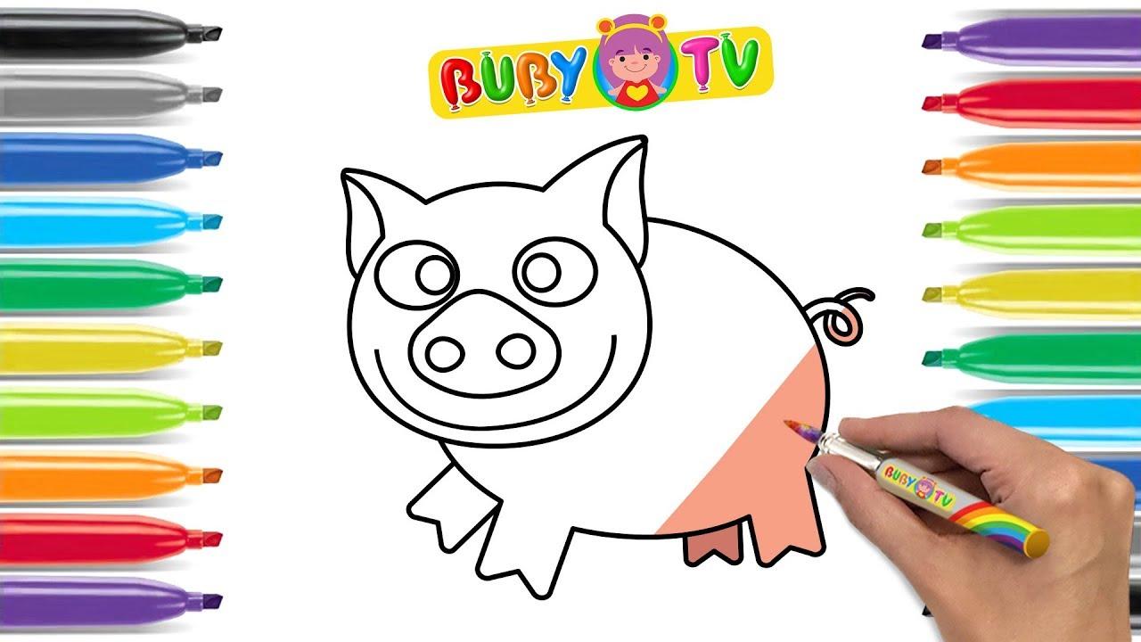 Impara a disegnare un maialino disegni di animali per for Maialino disegno per bambini