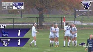 Stonehill Women's Soccer Highlights vs SCSU