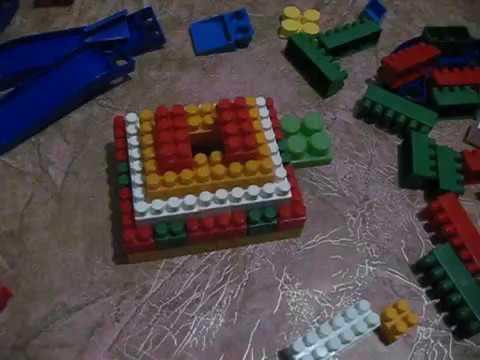 что можно построить из конструктора. строим пирамиду. родителям и детям.