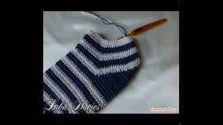 мужские носки крючком