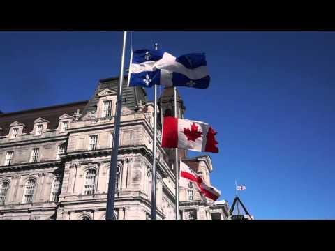 Montréal City Hall Flags Fly At Half Mast For Réné Angelil 00040