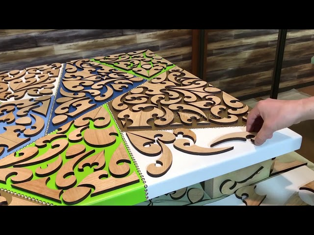Кухонный Стол из Дерева и Эпоксидной Смолы