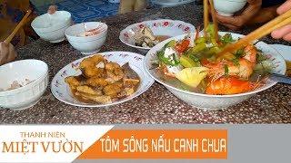 Bắt tôm buổi tối về nấu canh chua | MÓN NGON MIỀN TÂY | TNMV #112