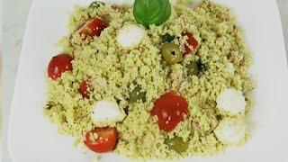 سلطة الكسكس باردة  غنية تحضير سريع salade couscous froide riche facile