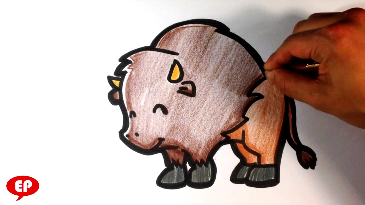 Uncategorized How Do You Draw A Buffalo how to draw a buffalo cute easy pictures youtube draw