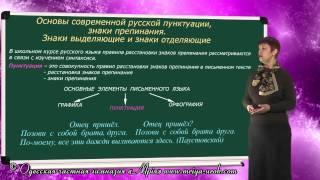 Основы современной русской пунктуации, знаки препинания. Знаки выделяющие и отделяющие