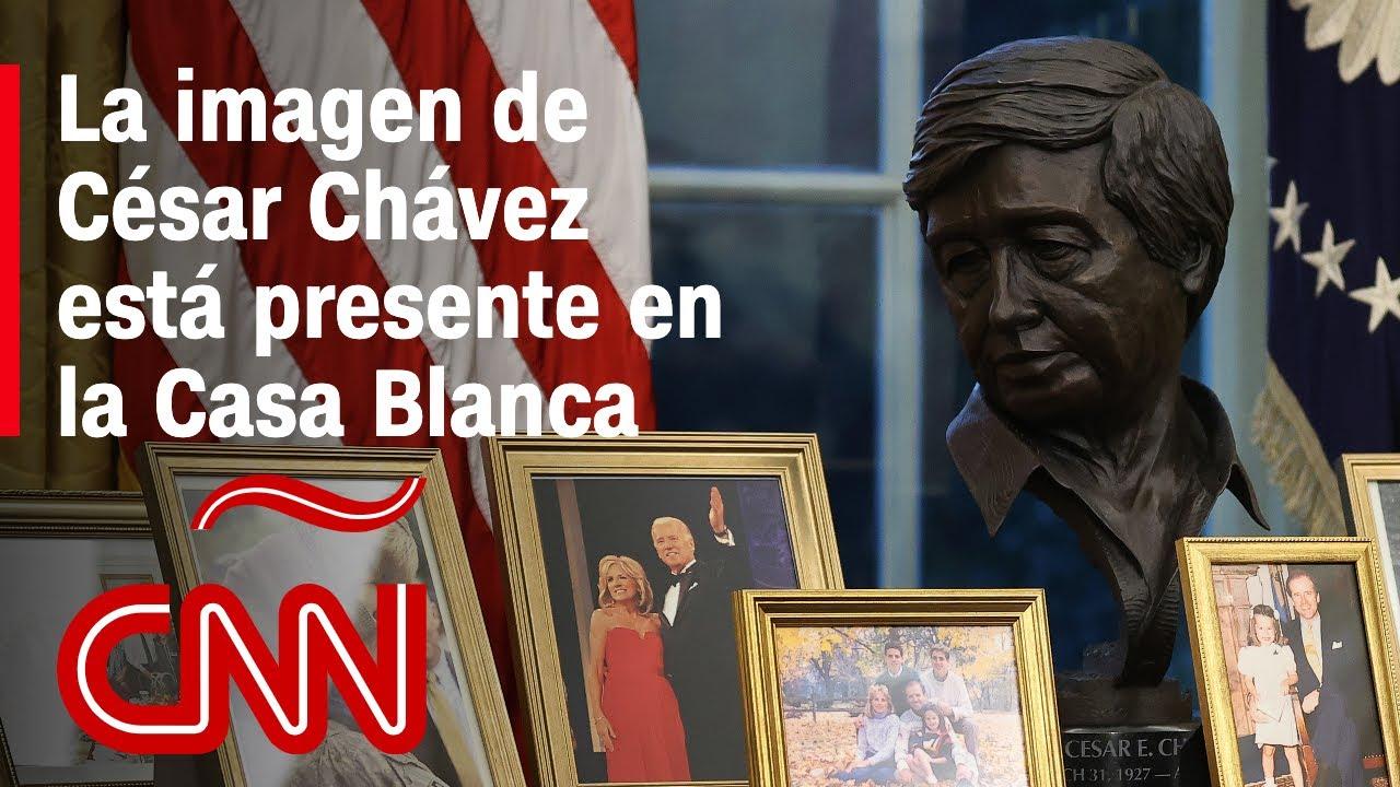 El busto de César Chávez adorna la Oficina Oval de Joe Biden