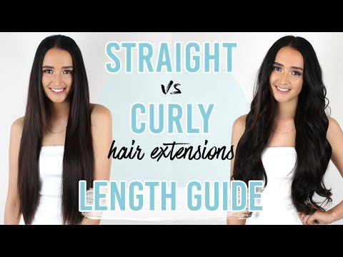 Hair Extensions Straight vs Curly Length Guide | ZALA Hair Extensions