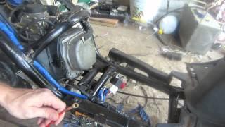 Скутер с кик стартера заводится,с электро стартера не хочет,решение проблемы!!!