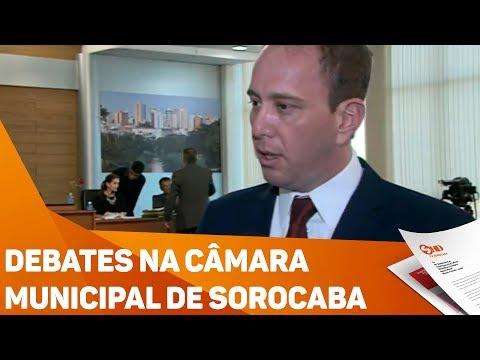 Debates na câmara municipal de Sorocaba - TV SOROCABA/SBT
