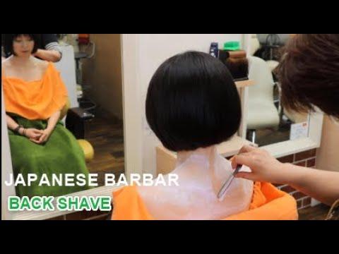 💈No Talking / Back Shave / Japanese Barber Shop / Female Barber / ASMR Japan / Bridal Shaving 💈